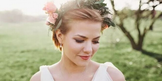 50+ Short Wedding Hairstyle Ideas For Beautiful Short Hair Bridal